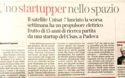 Corriere della Sera Innovazione: Uno startupper nello spazio